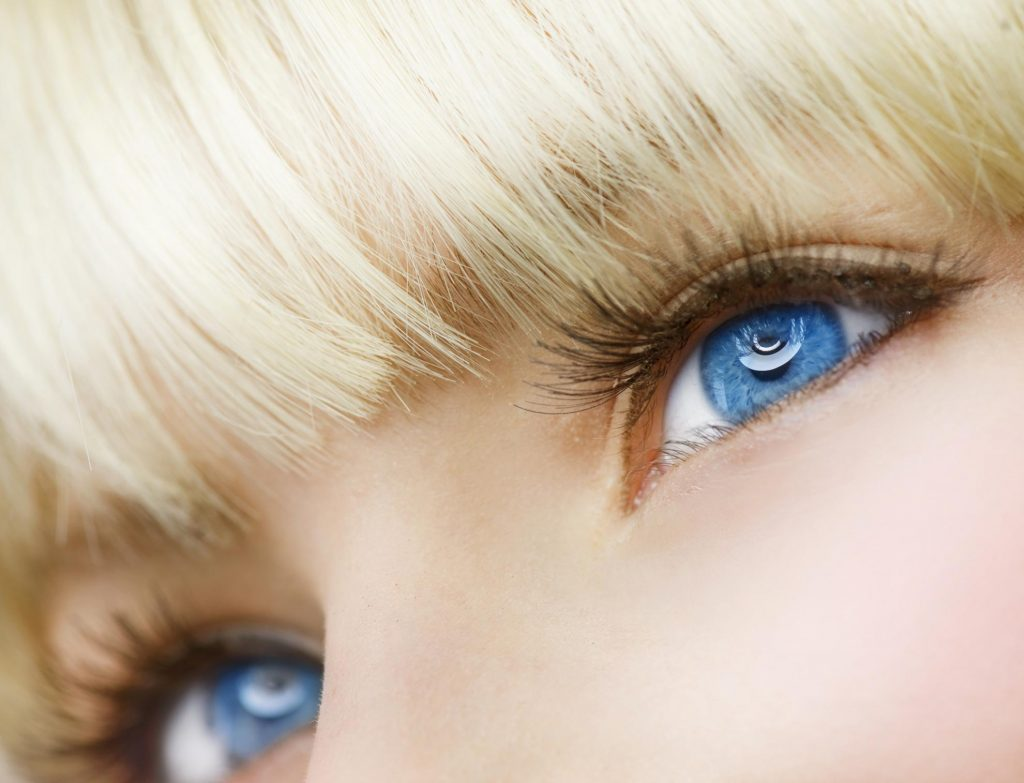 close up blue eyes lashes